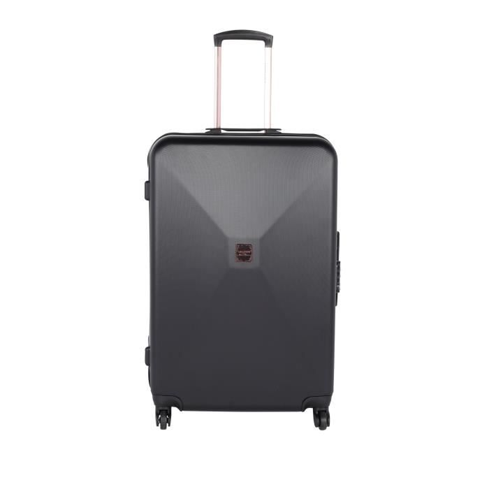 lollipops valise trolley rigide abs 4 roues 65cm noir noir achat vente valise bagage. Black Bedroom Furniture Sets. Home Design Ideas