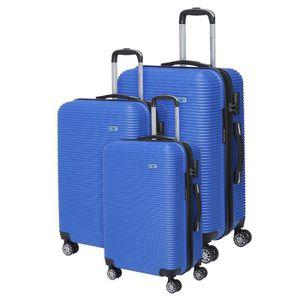 SET DE VALISES BERENICE Lot de 3 Valises Trolley Rigide ABS - 8 R