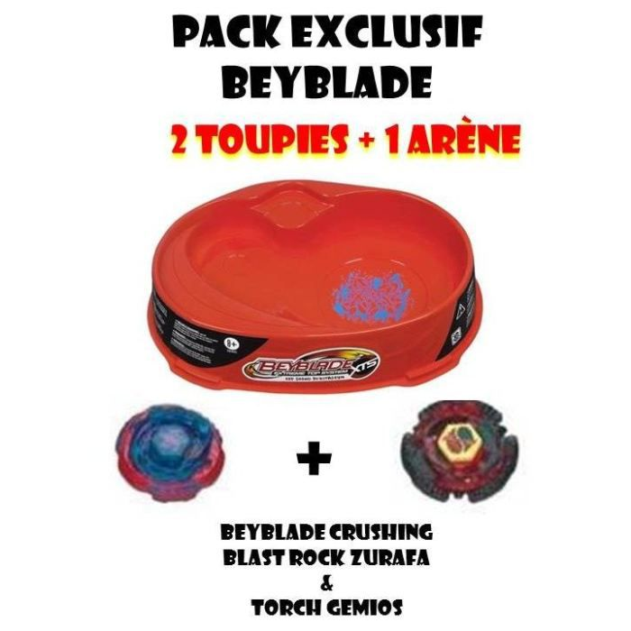 pack exclusif beyblade 2 toupies 1 ar ne achat vente toupie lanceur beyblade 2 toupies. Black Bedroom Furniture Sets. Home Design Ideas