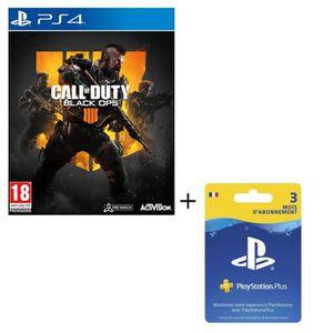 PACK ACCESSOIRE Pack Call of Duty Black OPS 4 Jeu PS4 + Abonnement