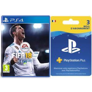 JEU PS4 FIFA 18 + Abonnement PlayStation Plus 3 mois