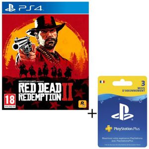 PACK ACCESSOIRE Pack Red Dead Redemption 2 Jeu PS4 + Abonnement Pl