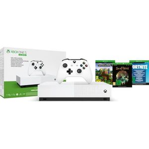 CONSOLE XBOX XBOX One S All Digital Refresh + 3 jeux dématérial