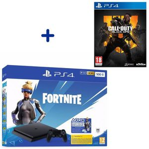 CONSOLE PS4 Pack PlayStation : PS4 Slim 500 Go Noire + Call of