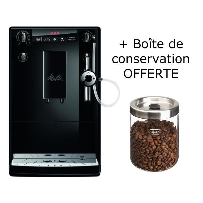 machine expresso avec broyeur int gr bo te de conservation de caf offerte melitta caffeo. Black Bedroom Furniture Sets. Home Design Ideas