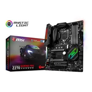 CARTE MÈRE Carte Mère MSI Z270 Gaming Pro Carbon - ATX - Sock