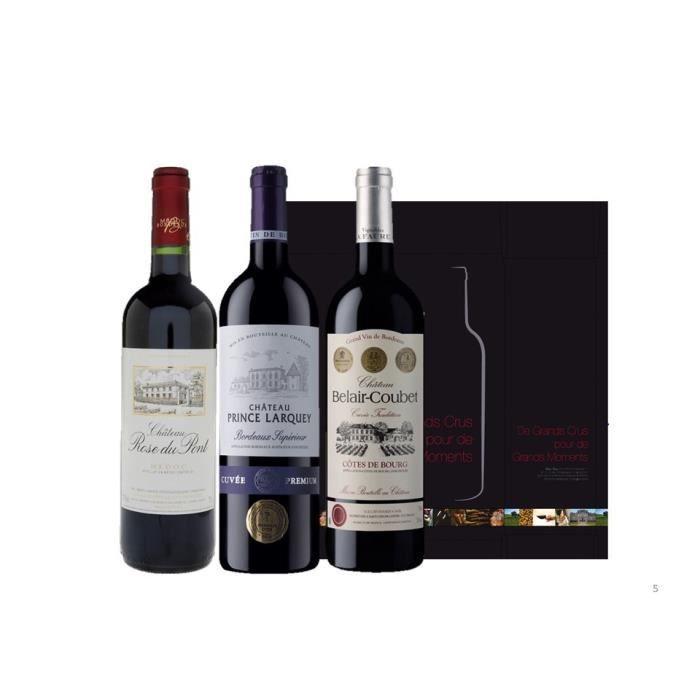 COFFRET CADEAU VIN Coffret Trilogie Bordeaux Médaillés d'Or