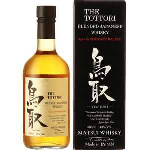 WHISKY BOURBON SCOTCH Tottori Whisky Japonais Bourbon finish 43% 50 cl