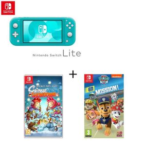 SORTIE CONSOLE NINTENDO SWITCH Console Switch Lite Turquoise + Jeu Switch Scribbl