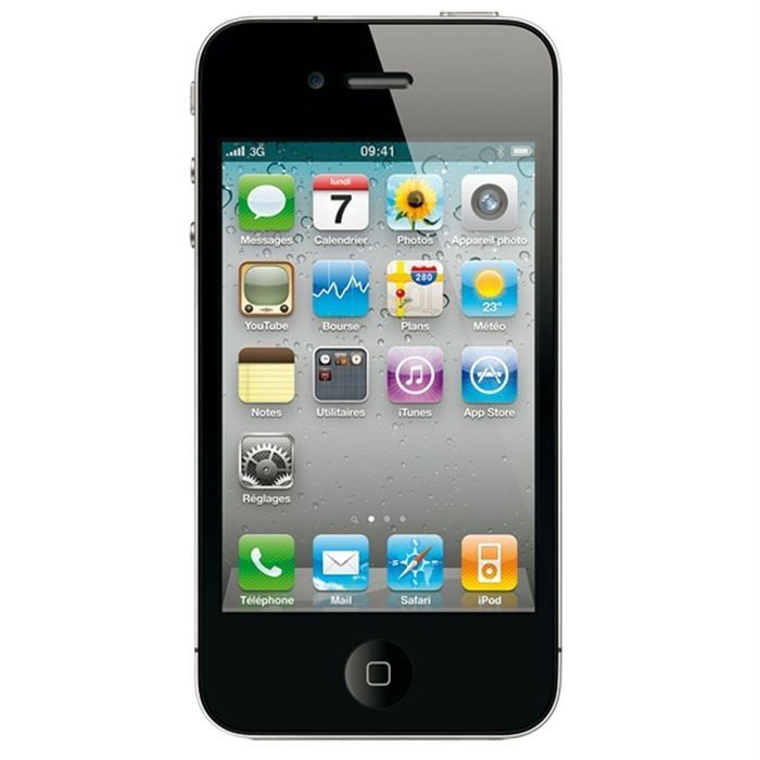 iphone 4 16go noir tout op rateur achat smartphone pas. Black Bedroom Furniture Sets. Home Design Ideas