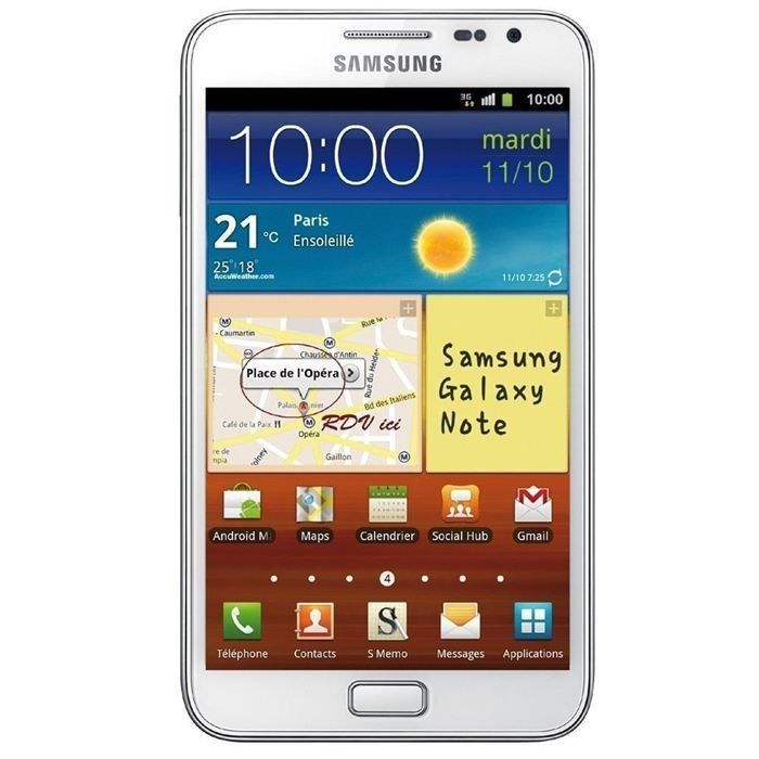 samsung sgh n7000 galaxy note tout op rateur achat. Black Bedroom Furniture Sets. Home Design Ideas