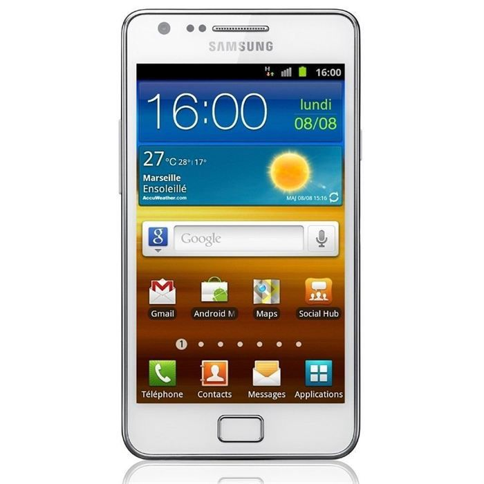 samsung galaxy s2 i9100 blanc achat smartphone pas cher. Black Bedroom Furniture Sets. Home Design Ideas