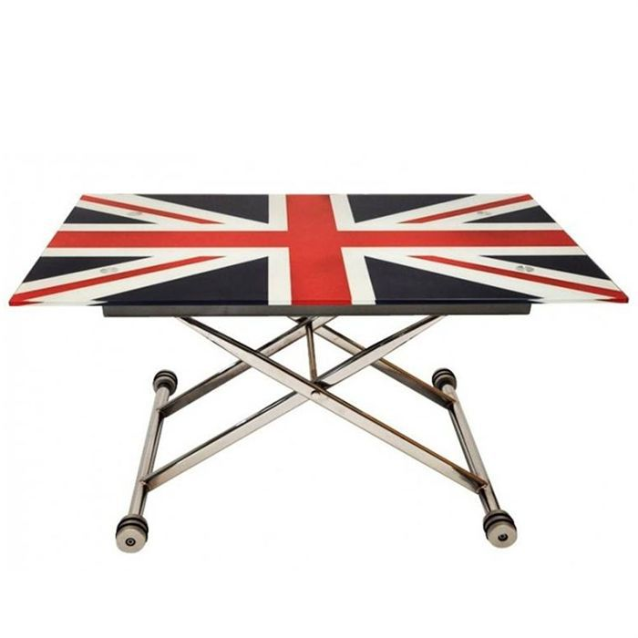 up down table basse union jack achat vente table basse up down table basse union jack. Black Bedroom Furniture Sets. Home Design Ideas