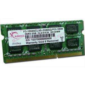 MÉMOIRE RAM GSKILL - Mémoire PC RAM - SODIMM DDR3 - 2Go - 1333