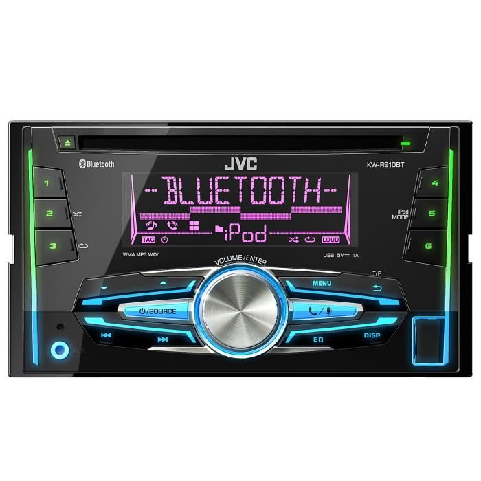 jvc kw r910bte autoradio cd bluetooth 2 din achat vente autoradio jvc kw r910bte. Black Bedroom Furniture Sets. Home Design Ideas