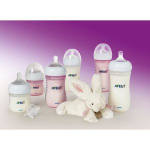 COFFRET BIBERONS PHILIPS AVENT Pack Fille 6 biberons Natural PP - 1