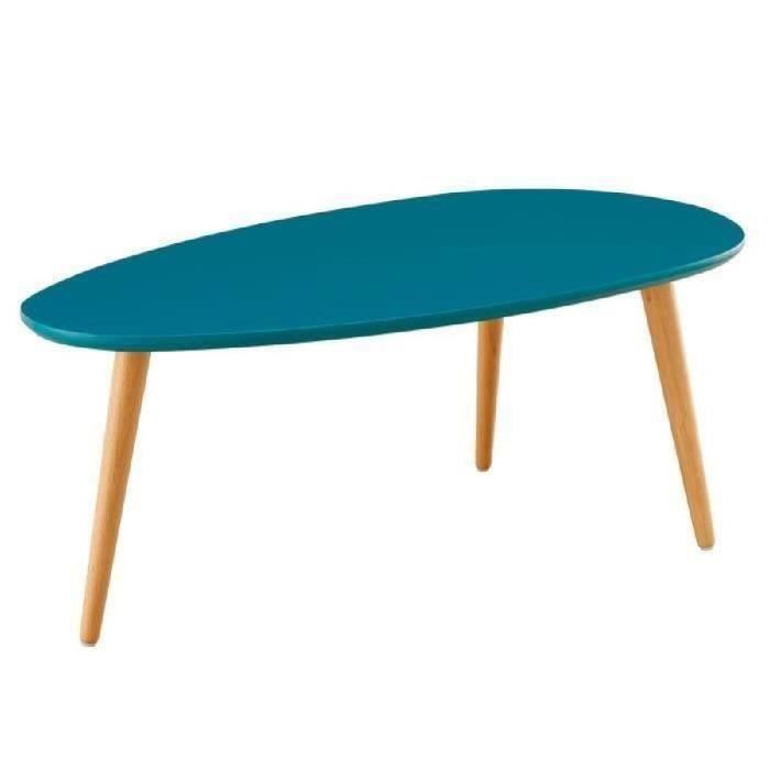stone table basse scandinave laqu e bleu paon satin l