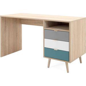 BUREAU  CUBA Bureau 3 tiroirs et 1 niche - Style scandinav