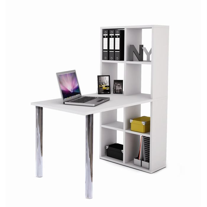 bureau bibliotheque blanc achat vente bureau. Black Bedroom Furniture Sets. Home Design Ideas