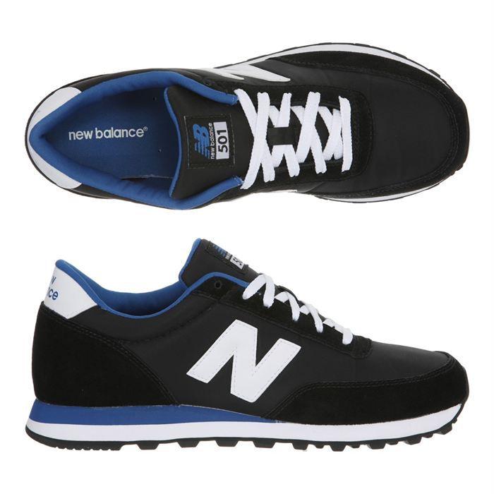 NEW BALANCE Baskets 501 Homme Noir, blanc et bleu - Cdiscount ...