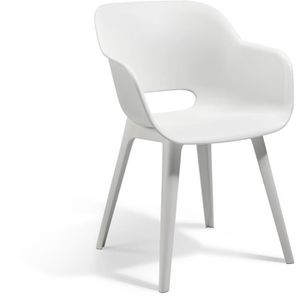 FAUTEUIL JARDIN  ALLIBERT JARDIN Lot de 2 fauteuils Akola - Coque b