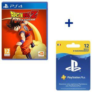 JEU PS4 Abonnement PlayStation Plus 12 Mois + Dragon Ball