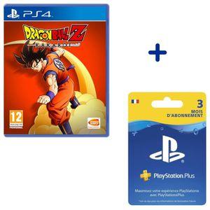 JEU PS4 Abonnement PlayStation Plus 3 Mois + Dragon Ball Z