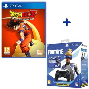 JEU PS4 Manette DualShock V2 Noire/Jet Black + Dragon Ball