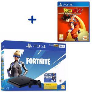 CONSOLE PS4 Console PS4 Slim 500Go Noire/Jet Black + Dragon Ba