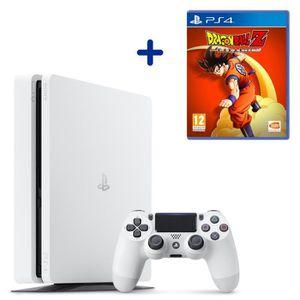 CONSOLE PS4 Console PS4 Slim 500Go Blanche/Glacier White + Dra