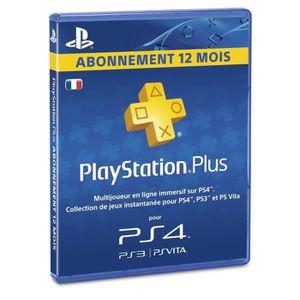 ABONNEMENT PLAYSTATION PLUS ABONNEMENT 12 MOIS