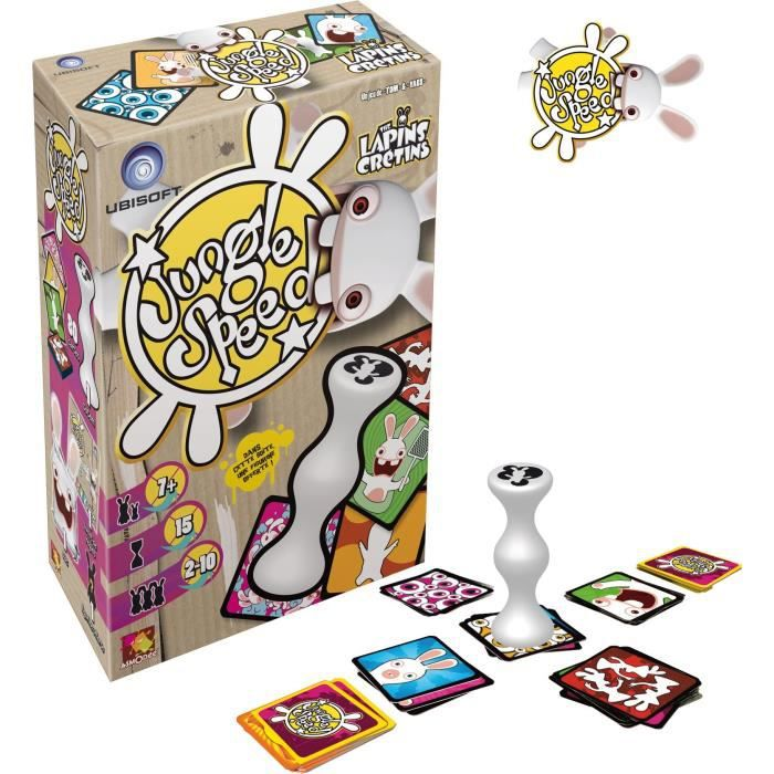 asmodee jungle speed lapins cr tins jeu de soci t achat vente jeu soci t plateau cdiscount. Black Bedroom Furniture Sets. Home Design Ideas