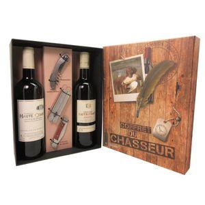COFFRET CADEAU VIN Coffret du chasseur Vin avec accessoires