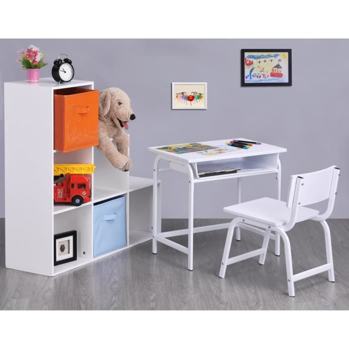 bureau enfant classique blanc. Black Bedroom Furniture Sets. Home Design Ideas