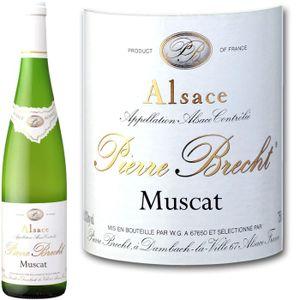 VIN BLANC Brecht Muscat Réserve Alsace 2010