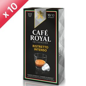 CAFÉ 100 capsules CAFÉ ROYAL de café Ristretto Intenso