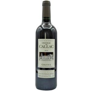 VIN ROUGE Château de Callac 2016 Graves - Vin rouge de Borde