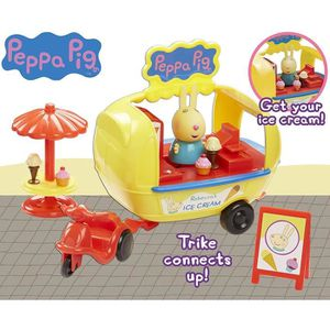 FIGURINE - PERSONNAGE PEPPA PIG le Camion à Glaces + Peppa