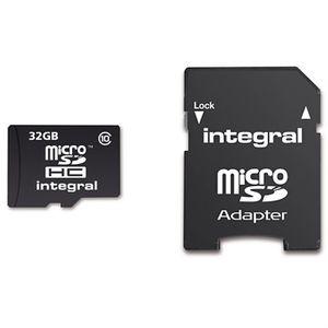 CARTE MÉMOIRE Integral carte Micro SD 32 Go classe 10