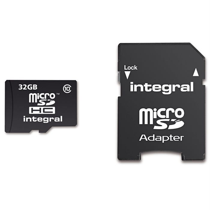 carte micro sd 32 go pas cher Integral carte Micro SD 32 Go classe 10   Achat carte mémoire pas