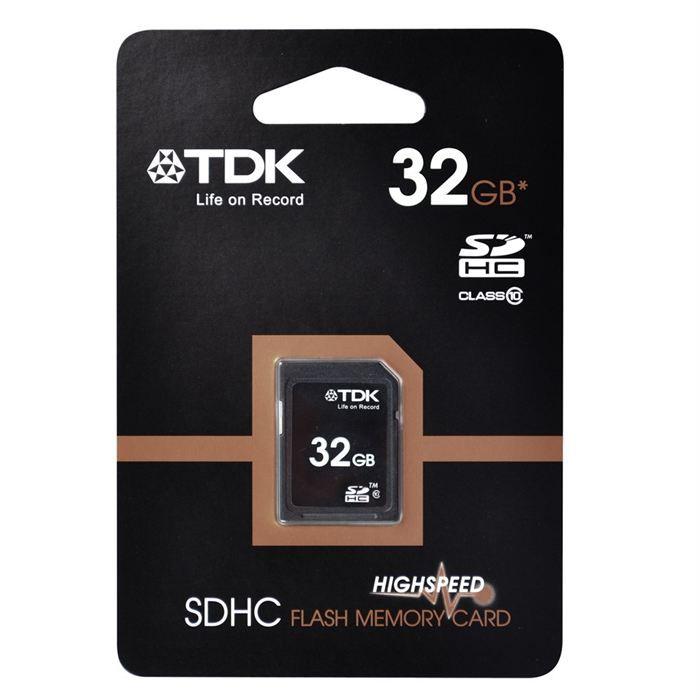 carte sd 32 go pas cher TDK carte SD 32 Go classe 10   Prix pas cher   Cdiscount