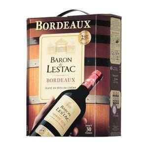 VIN ROUGE Vin rouge Bordeaux 3 l Baron De Lestac