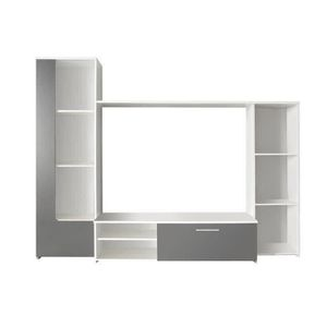 MEUBLE TV FINLANDEK Meuble TV mural PILVI contemporain blanc