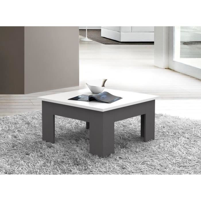 Finlandek table basse cloud gris blanc achat vente table basse cloud tabl - Table basse bois gris ...
