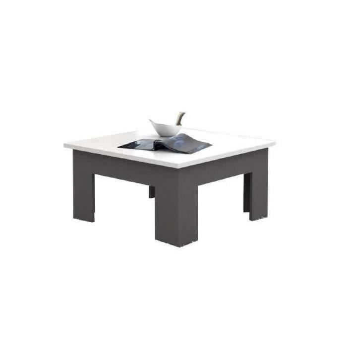 Finlandek table basse pilvi 75x75 cm blanc et gris achat for Table basse scandinave gris et blanc