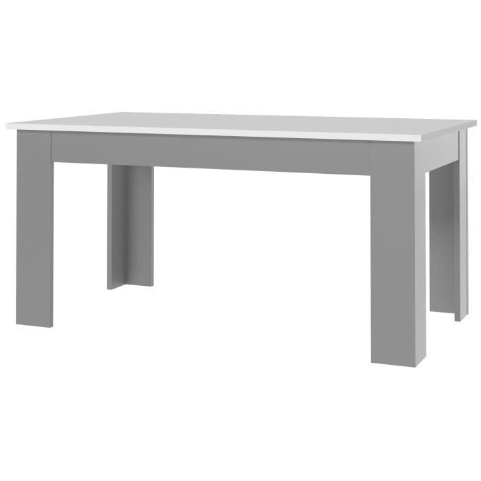 finlandek table de s jour pilvi 160cm blanc gris achat vente table manger finlandek table. Black Bedroom Furniture Sets. Home Design Ideas