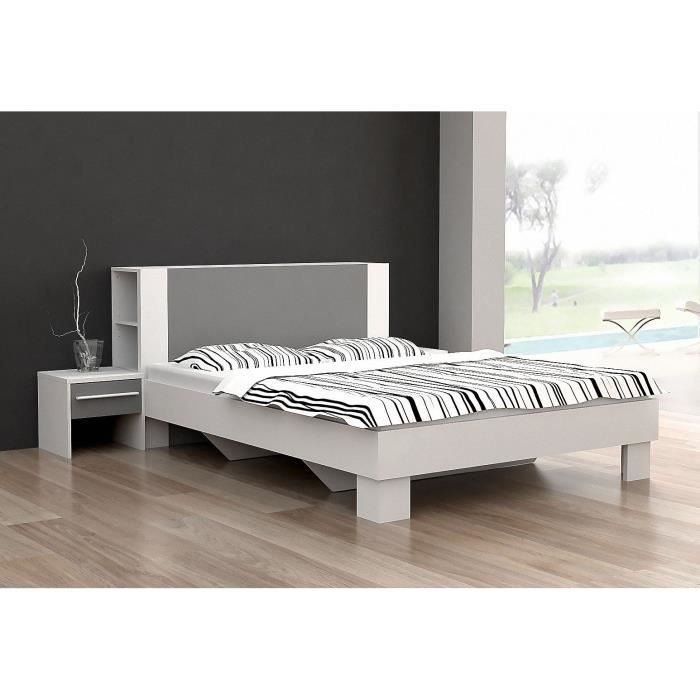 lit 140 avec rangement integre maison design. Black Bedroom Furniture Sets. Home Design Ideas