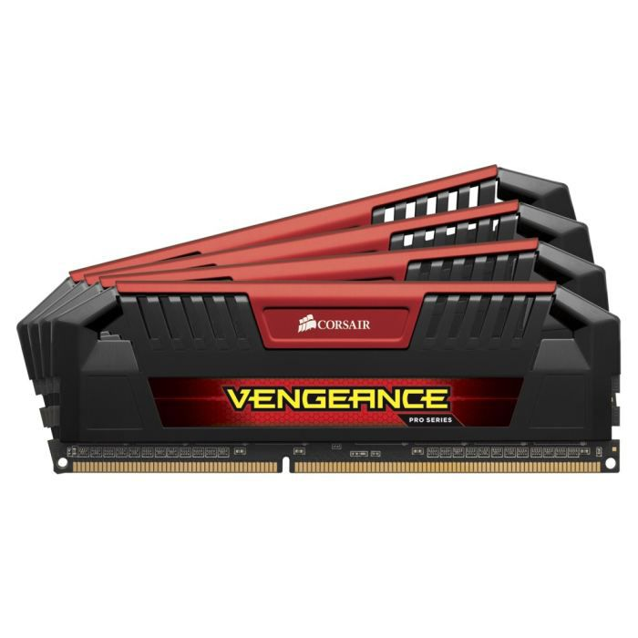 MÉMOIRE RAM Corsair 32Go DDR3 1600MHz C9 Vengeance Red