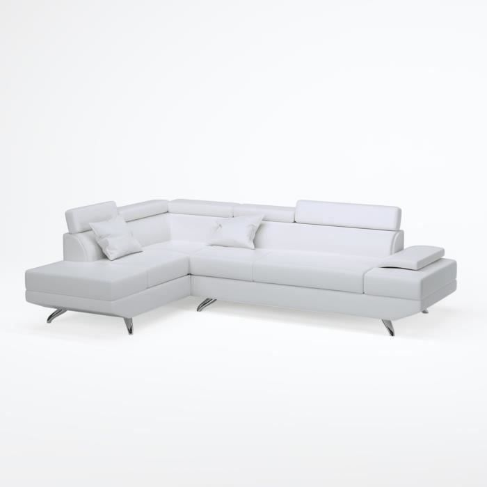 canap sofa divan scoop canap dangle gauche 4 places - Canape D Angle Blanc