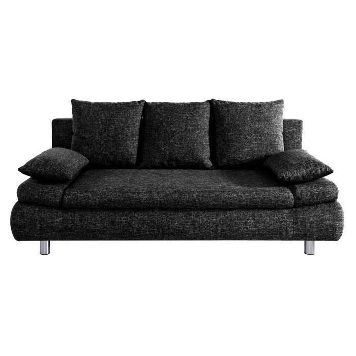 naho canap droit convertible tissu 3 places achat vente canap sofa divan structure. Black Bedroom Furniture Sets. Home Design Ideas